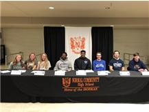 February Signing Day participants