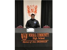 Jordan Lawrence signing to play football at Indiana State University