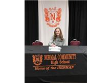 Maggie Peters signing to play soccer at Illinois Wesleyan University
