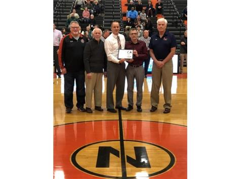 NCHS Boys Basketball Team recognized for having over 1500 wins in the history of their program