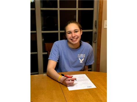 Anya Weber signing with Georgia Southern University Swimming & Diving Team!