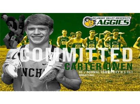 Carter Owen signing with Delaware Valley University to compete in Cross Country, Wrestling & Track & Field!