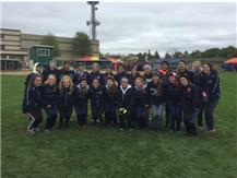 Oswego and Oswego East Girls Cross Country Teams after Qualifying for STATE!