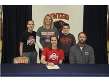 Georgia White signs to continue Swimming at Ohio State University