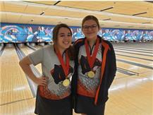Varsity Medalists Savanna Jourdan (6th) & Lani Breedlove (2nd) @ OEHS Wolves Invite 2019