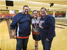 Lani Breedlove with Parents @ Conference Tournament 2020