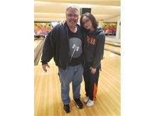Evelyn James with Dad @ 2020 Sectional Tournament