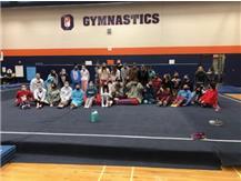 Gymnastics Girls making the most of their season!!  Funsies in Onesies Night!