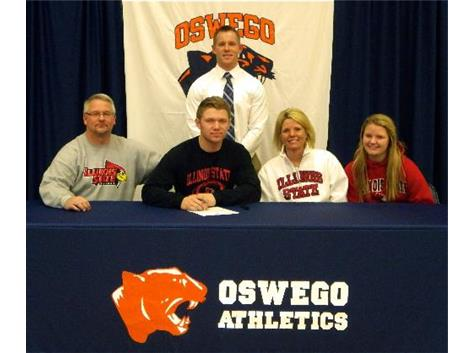 Bryce Holm signs with Illinois State University to play Football.