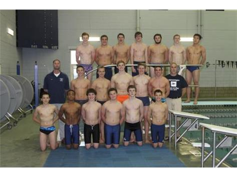 2014-2015 Boys Swimming & Diving Oswego Co-op Team