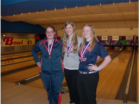 Brittany Breedlove with Area All-State Bowlers