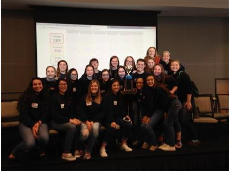 Oswego High School Athletic Training Students (OATS) took first place in the District 230 Sports Medicine Symposium.
