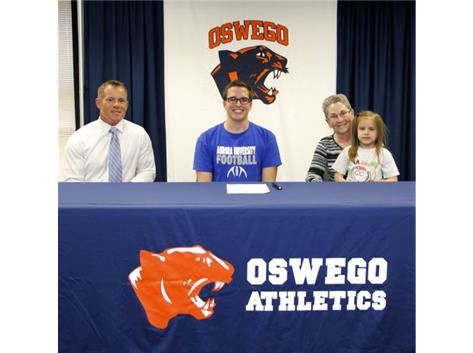Kevin Prater sign with Aurora University - Football