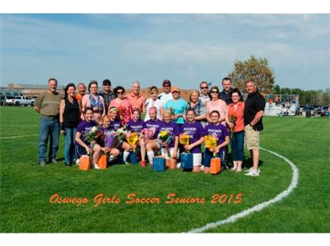 2015 Girls Soccer Senior Night