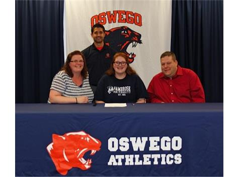Brittany Breedlove signs to bowl at St. Ambrose University.