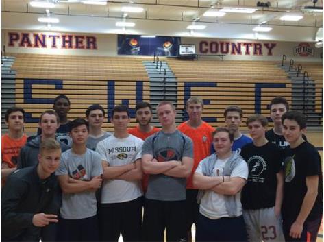 2016 Varsity Boys Volleyball with certain 2015 ALUMNI!