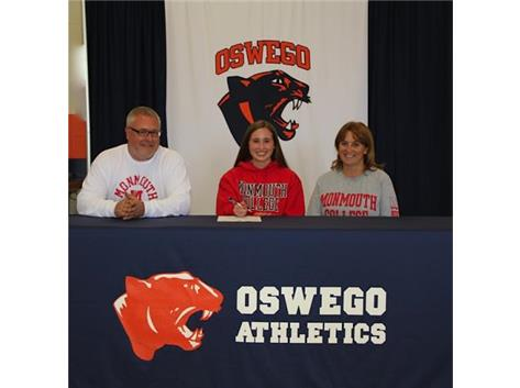 Kacie Moran signs with Monmouth College to continue playing Soccer.