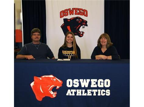 Katie Iverson signs with Augustana College to continue Track & Field.