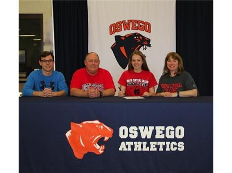 Katie Manna signs with North Central College to continue Track & Field.