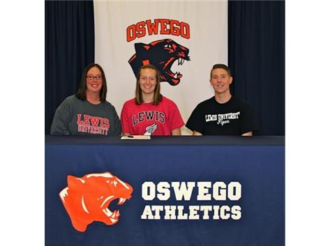 Nicole Kraemer signs with Lewis University to continue Track & Field.