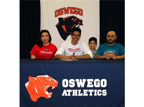 Brian Jimenez signs with Milwaukee School of Engineering to continue Track & Field.