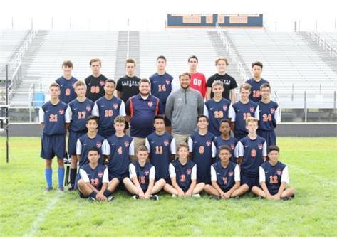2017 JV Boys Soccer Team