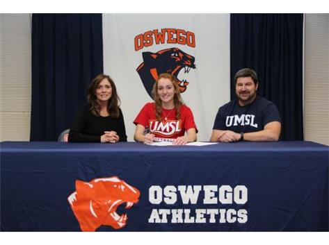 Corinne Daley signs with University of Missouri-St Louis to continue playing softball.