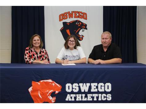 Rachel Clifton signs with Judson University to continue bowling.
