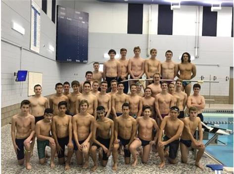 2017-2018 Co-op Boys Swim Team