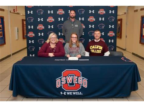 Lauren Abrell signing with Calvin College to continue Swimming
