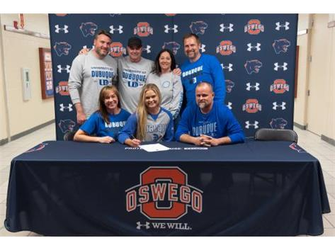 Nicolette Evans signs with University of Dubuque to continue playing Softball