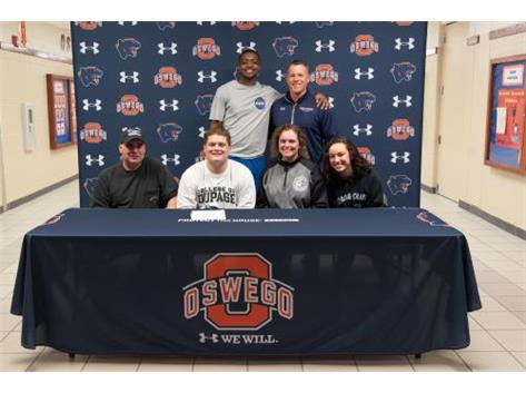 Geno Lukowski signs with College of DuPage to continue playing Football