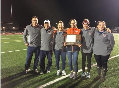 Coaches (Left to Right): Craig Weyrich, Eric Simon, Sarah Carlson, Jamie Bechina (Head Coach), Alicia Rafferty, Sam Howard