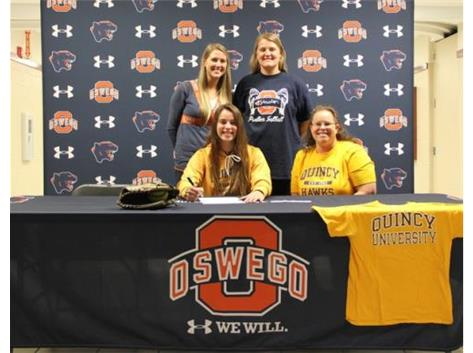 Abbey Kuehner signs to play softball at Quincy University