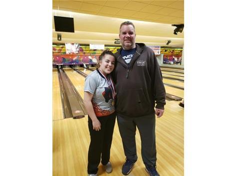 Savanna Jourdan with Dad @ Conference Tournament 2020