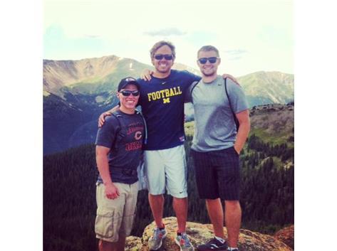 Troy Klatt (09), Tim Klatt, (05), Jake Nantz (05) at The Continental Divide in Colorado.