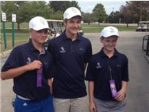Max Woods, Ryan Blanco, and Blake Lipscomb after earning JV All Conference Honors at the SPC Tournament.
