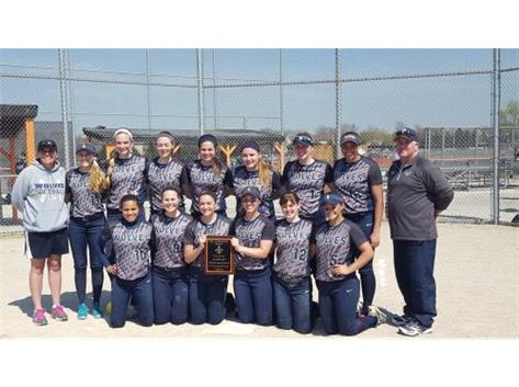 Congratulations to our Varsity Softball team!  St. Charles Tournament Champions!!!  GO WOLVES!!