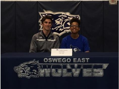 Chris Smith signs with Creighton University to continue his education and athletic career! 