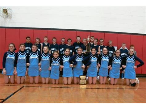 Twin County Conference Champions- 7th Grade Basketball & Cheer Competition.