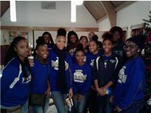 Lady Pirates at St. Christopher's Homeless Shelter in Oak Park on 12.23.16