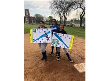 Valdez, Barraza, and Guerrero on Senior Day at 1st base
