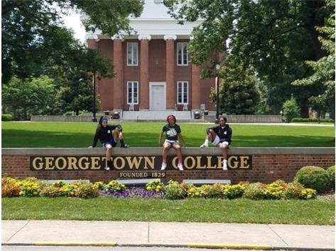 Kendra Hatley, Jaliyah Davis and Chantel Hairston at Georgetown College Point Guard Camp on July 12th.