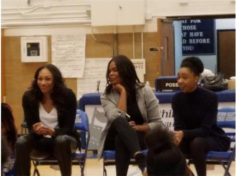 Girl Talk Panel with WNBA player, East Alumni, and Writer.