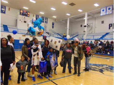 Senior Night 2018 Dee Brown and Family