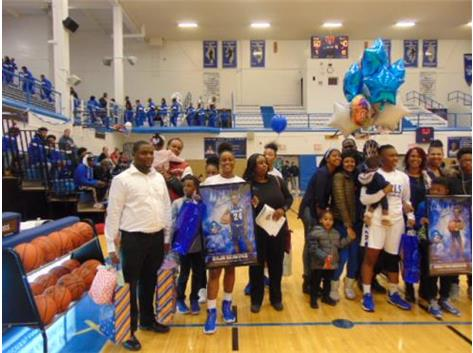 Senior Night 2018 Daja Beavers and Family