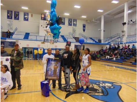 Senior Night 2018 Karen Dorsey and Family