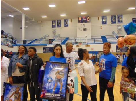 Senior Night 2018 Kolbi Powell and Family