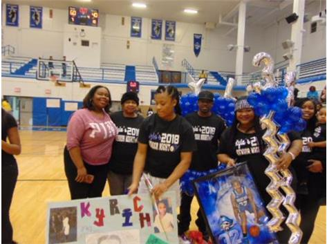 Senior Night 2018 Kyla Richardson and Family