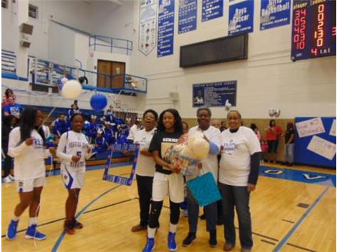 Senior Night 2018 Emani Washington and Family